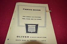 Oliver Tractor 600 Series Cultivators Dealer's Parts Book Manual BVPA