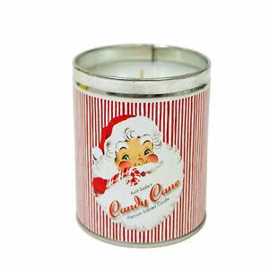 Johanna Parker Santa Claus Sweet Candy Cane Scented Candle Retro Christmas Decor