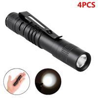 4X Q5 LED Tactical Flashlight 3000 Lm Bright Torch Lamp Mini Pen Light AAA GA