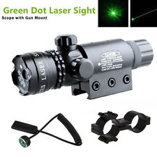 Tactical Green Dot Laser Sight Hunting Rifle Scope Mounts Light Remote Switch