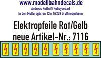 10 Spur 0 Elektropfeile 3,3 x 1,6 mm - rot auf gelbem Schild 045-7116