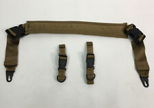Military Universal Tripod Padded Sling Shoulder Strap HK Clips COYOTE