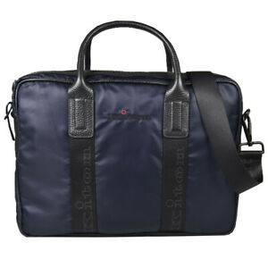 NEW KITON BRIEFCASE 100% PA WITH INSERTS LEATHER AND COTTON KBAV14