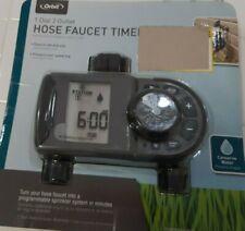 Orbit 1 Dial 2Outlet Hose Faucet Timer # 56544 - Programmable sprinkle.New