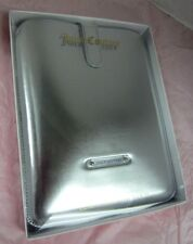 JUICY COUTURE MIRRORED iPAD / TABLET SLEEVE CASE SILVER TONE YTRUT074 NWT $68