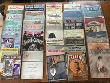 39 Pieces vintage sheet music