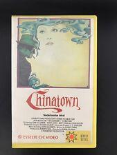 Chinatown Jack Nicholson Ex-Rental Vintage Big Box VHS Tape English  dutch subs