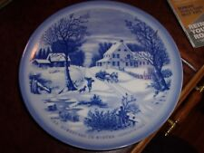 """Currier And Ives """"The Homestead In Winter"""" Plates made in Japan"""