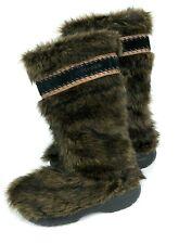 Crocs Cozycrocs Women's Yeti Fuzz Faux Fur Brown Warm Bootie Boots Size 7W