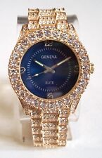 Men's Gold Finish Iced Out Hip Hop Bling Luxury Dressy Fashion Wrist Watch