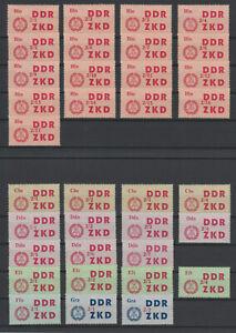 ZKD C, postfrisch, kompletter Luxus- Satz! 84 Werte! Sehr selten! RR!