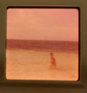 1969 Kodacolor Photo Slide Bikini Lady Brunette Beach Ocean Bahamas Amateur Swim