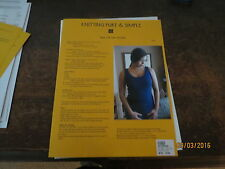 Knitting Pure & Simple Tank Top for Women x-s thru xx-L 101