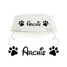 Personnalisé nom autocollant vinyle autocollant chien chat bol cage chenil panier lit cadeau