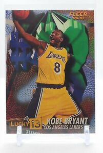 1996 - 97 Kobe Bryant Lucky 13 Insert Rookie RC Card LA Lakers! NM+ to MINT !!