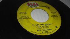 Neil Diamond, I Got The Feelin' / The Boat That I Row 45 RPM Record 7 Inch Vinyl