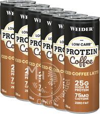 Weider Protein Iced Coffee Latte 24x 250ml (7,32€/L) Eiweiß Kaffeegetränk UVP55€