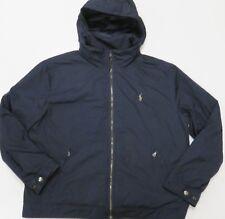 Polo Ralph Lauren Perry Blue Fleece Lined Hooded Windbreaker Jacket Mens 2XL