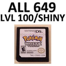 Custom Unlocked Pokemon White - All 649 Shiny Pokemon, All Items! DS, 3DS