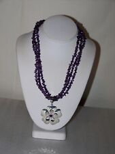 Silpada Sterling Silver Amethyst Necklace & Enhancer