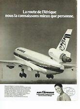 Publicité Advertising 037    Air Afrique  sur le Jumbo Jet DC 10