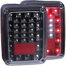 Anzo L.E.D Tail Lights Black For 07-17 Jeep Wrangler (JK) #311212