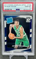 2017 Panini Donruss Optic #198 Jayson Tatum Rated Rookie RC PSA 10 GEM MINT 💎