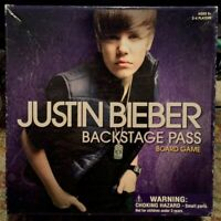 Justin Bieber Backstage Pass 2010 Board Game #6032 Complete