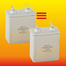 0.5 uF 750 V MATCHED RUSSIAN PAPER IN OIL PIO AUDIO CAPACITORS  MBGCh-1 МБГЧ
