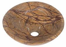Marble Hand Face Wash Basin Bowl Bathroom 40cm diameter Rain Forest Brown 0042