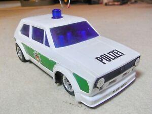 Taiyo Radio Racer , VW Golf 1 Polizei , RC Modell , 80 er J., 19 cm lang