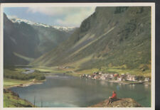 Norway Postcard - Gudvangen, The Naeroy Valley In The Background  RR3290