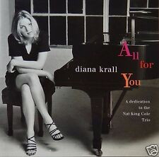Diana Krall - All For You: Dedication Nat King Cole (CD 1996 Justin ) VG++ 9/10