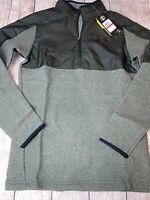 Under Armour Men's XS Green Coldgear Infrared Fleece Pullover Half Zip NEW