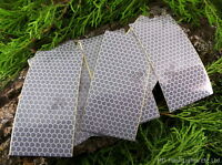 8 x GENUINE SOLAS RETRO REFLECTIVE ADHESIVE TAPE SHEETS SURVIVAL BUSHCRAFT