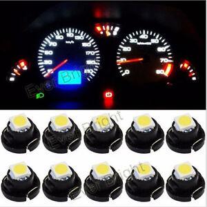 10Pcs T4.2 5050 1SMD LED Wedge Dashboard Cluster Light Panel Gauge Dash Bulbs
