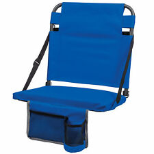 EastPoint Sports Adjustable Bleacher Back Stadium Seat w/ Cup Holder, Royal Blue