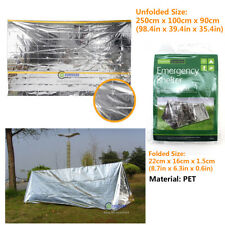2Person Emergency Survival Gear Mylar Thermal Tent Bag Shelter Canopy Cover