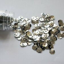 500 x 6mm Silver Cup High Quality Sequins in Clear Plastic Bottle