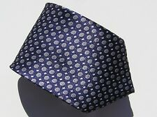 EG Men's Tie, Blue with Silver Circle Geometric Pattern,100% Polyester. A12