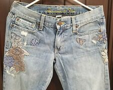 """Abercrombie & Fitch Flower Embroidery Retro Jeans Women's size 2 Inseam 29"""""""