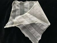 Edwardian ANTIQUE FRENCH GAUZE MESH FRAGMENT SALVAGE CUTTER REMNANT A12
