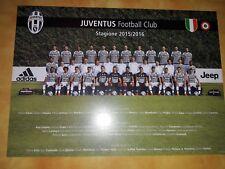 JUVENTUS cartolina squadra foto  ufficiale 2015/16 formato A4