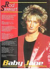 ROD STEWART Baby Jane lyrics magazine PHOTO/Poster/clipping 11x8 inches