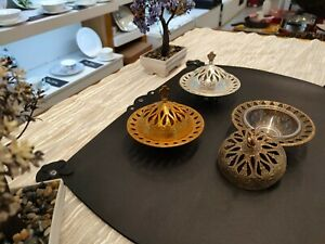 3 100% Handmade copper plates with covers, copper Serving Plate, Antique copper