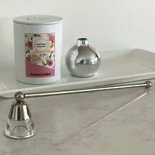Candle Snuffer Silver with Glass Cone