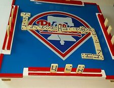 Custom made 16 x 16 x 2 inch Mini Phillies Dominoes Table and Mini dominoes