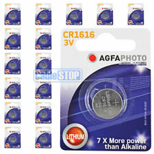 16 x AGFA CR1616 3V Lithium Button Battery Coin Cell DL1616 for Car Key Fobs