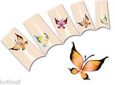 Nail Art Wasser Tattoo Aufkleber für Nageldesign BLE196  bunte  Schmetterlinge