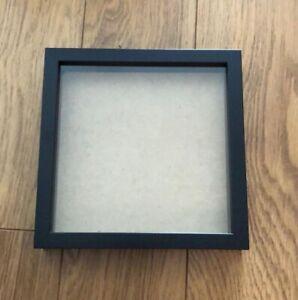 Large Shadow Box, Deep Wooden Photo Frames - NEW 12x12 inch - BLACK